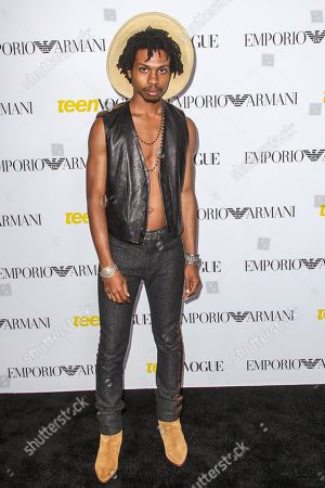 Raury attends the Teen Vogue's 13th Annual Young Hollywood Issue Launch Party on in Los Angeles