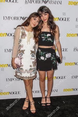 Stock Picture of Christina Scherer, left, and Hannah Marks attend the Teen Vogue's 13th Annual Young Hollywood Issue Launch Party on in Los Angeles