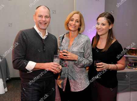 "John Fisher, and from left, Marian Hamburger and Jenna Hamburger attend ""An Evening with GIRLS"", at the Television Academy in the NoHo Arts District in Los Angeles"