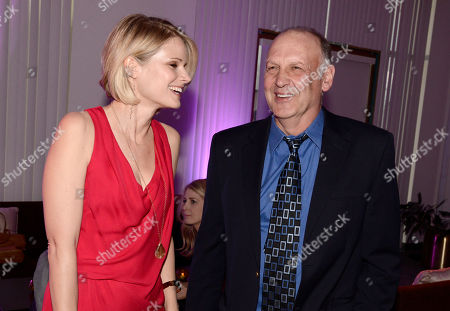 """Joelle Carter, left, and Nick Searcy attend """"An Evening with Justified"""", at the Television Academy in the NoHo Arts District in Los Angeles"""