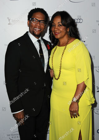 "DL Hughley and LaDonna Hughley arrive at the Academy of Television Arts & Sciences Presents ""The 6th Annual Television Honors"" at the Beverly Hills Hotel on in Beverly Hills, Calif"