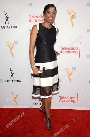 Stock Photo of Areva Martin seen at the Television Academy's 67th Emmy Awards Dynamic and Diverse Nominee Reception at the Montage Beverly Hills, in Beverly Hills, Calif