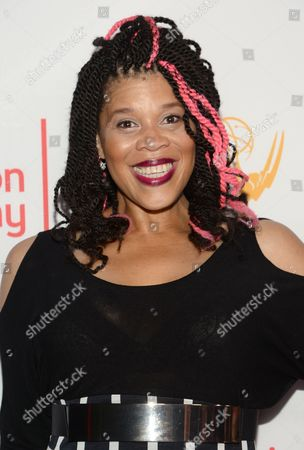 "Tracy ""Twinkie"" Bird seen at the Television Academy's 67th Emmy Awards Dynamic and Diverse Nominee Reception at the Montage Beverly Hills, in Beverly Hills, Calif"