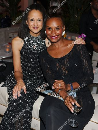 Anne-Marie Johnson, left, and Tabitha Brown seen at the Television Academy's 67th Emmy Awards Dynamic and Diverse Nominee Reception at the Montage Beverly Hills, in Beverly Hills, Calif