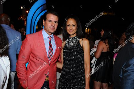 Vincent De Paul, left and Anne-Marie Johnson seen at the Television Academy's 67th Emmy Awards Dynamic and Diverse Nominee Reception at the Montage Beverly Hills, in Beverly Hills, Calif