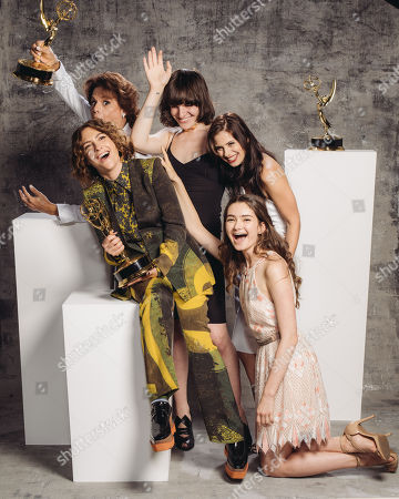 Alexandra Billings, Jill Soloway, Hari Nef, Kelsey Reinhardt, Emily Robinson poses for a portrait at the Television Academy's 67th Emmy Awards Performers Nominee Reception at the Pacific Design Center on in West Hollywood, Calif