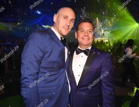 Stock Picture of Josh Wingate, left, and Patrick Welborn attend the Governors Ball during night two of the Television Academy's 2016 Creative Arts Emmy Awards at the Microsoft Theater on in Los Angeles