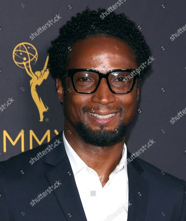 Elvis Nolasco arrives at the Television Academy's Performers Emmy Celebration at the Montage Beverly Hills on