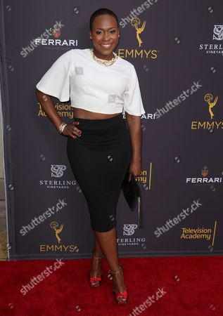 Natalie Whittle arrives at the Television Academy's Performers Emmy Celebration at the Montage Beverly Hills on