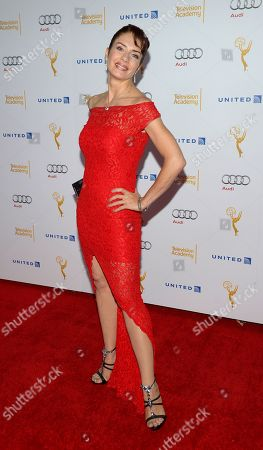 Actress Cristina Parovel arrives at the Television Academy's 66th Emmy Awards Performance Nominee Reception at the Pacific Design Center, in West Hollywood, Calif