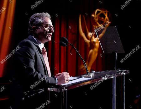 Rick Rosen, Television Academy Hall of Fame Chair, speaks at the Television Academyâ?™s 70th Anniversary Gala and Opening Celebration for its new Saban Media Center, in the NoHo Arts District in Los Angeles
