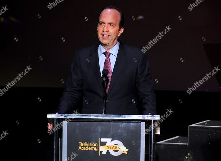 ABC's Ben Sherwood accepts the Hall of Fame Cornerstone Award at the Television Academy's 70th Anniversary Gala and Opening Celebration for its new Saban Media Center, in the NoHo Arts District in Los Angeles