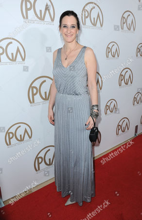 Allison Abbate arrives at the 24th Annual Producers Guild (PGA) Awards at the Beverly Hilton Hotel, in Beverly Hills, Calif