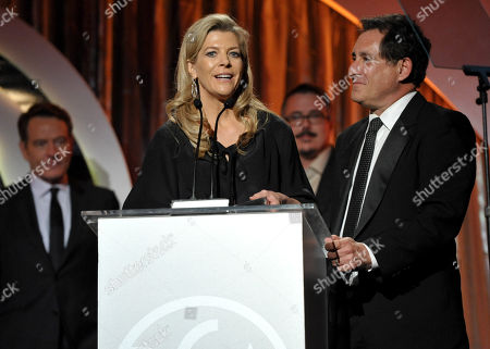 Stock Photo of Michelle MacLaren, left, and Stewart Lyons accept the Norman Felton award for outstanding producer of episodic television - drama, for â?œBreaking Badâ?? at the 25th annual Producers Guild of America (PGA) Awards at the Beverly Hilton Hotel, in Beverly Hills, Calif