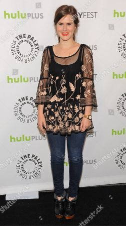 Photo of Zoe Jarman courtesy of Samsung Galaxy, taken during the Paley Center for Media's PaleyFest, honoring The Mindy Project at the Saban Theatre, in Los Angeles, California