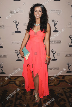 Teresa Castillo arrives at the 40th Annual Daytime Emmy Awards nominee reception at the Montage Beverly Hills on in Beverly Hills, Calif