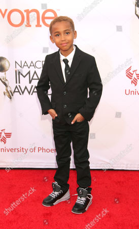 Stock Image of Genis Wooten arrives at the 46th NAACP Image Awards at the Pasadena Civic Auditorium, in Pasadena, Calif