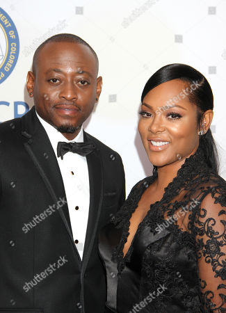Omar Epps, left, and Keisha Epps arrive at the 46th NAACP Image Awards at the Pasadena Civic Auditorium, in Pasadena, Calif