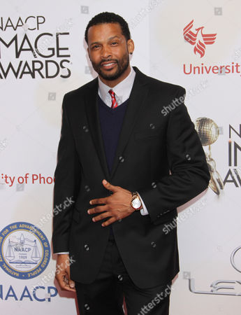 Stock Picture of Trae Ireland arrives at the 46th NAACP Image Awards at the Pasadena Civic Auditorium, in Pasadena, Calif