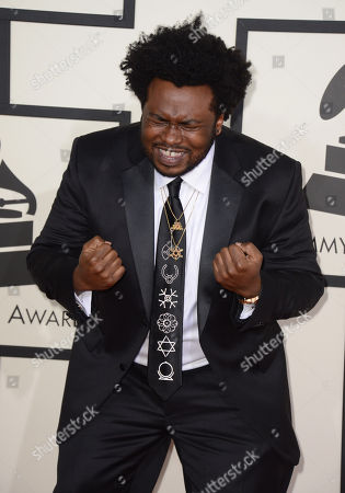 Stock Picture of James Fauntleroy arrives at the 56th annual GRAMMY Awards at Staples Center, in Los Angeles
