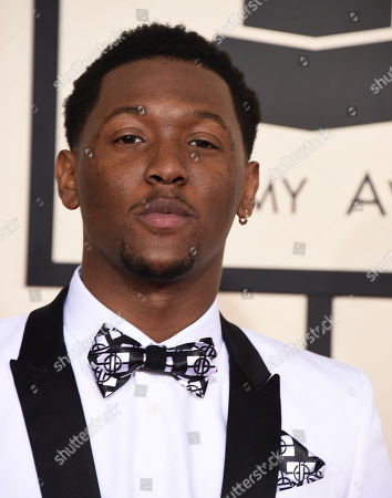 Hit-Boy arrives at the 57th annual Grammy Awards at the Staples Center, in Los Angeles