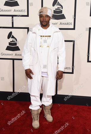 Malik Yusef arrives at the 57th annual Grammy Awards at the Staples Center, in Los Angeles