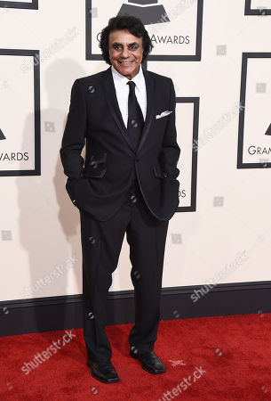 Johnny Mathis arrives at the 57th annual Grammy Awards at the Staples Center, in Los Angeles
