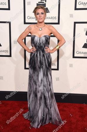 Caitrin Rogers arrives at the 57th annual Grammy Awards at the Staples Center, in Los Angeles
