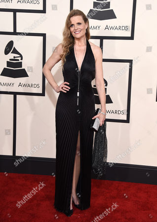 Tierney Sutton arrives at the 57th annual Grammy Awards at the Staples Center, in Los Angeles