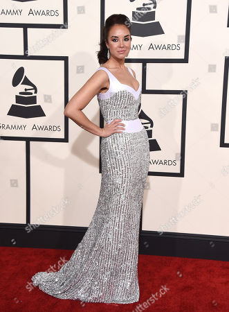 Alexandra Silber arrives at the 57th annual Grammy Awards at the Staples Center, in Los Angeles