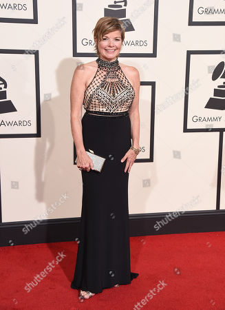 Stock Image of Karrin Allyson arrives at the 58th annual Grammy Awards at the Staples Center, in Los Angeles