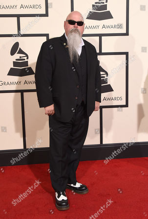 Vance Powell arrives at the 58th annual Grammy Awards at the Staples Center, in Los Angeles