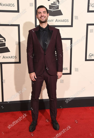 Stock Picture of Andrew Cedar arrives at the 58th annual Grammy Awards at the Staples Center, in Los Angeles