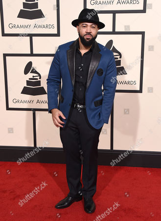 Jim Beanz arrives at the 58th annual Grammy Awards at the Staples Center, in Los Angeles