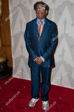 "Stock Image of Spike Lee arrives at The Academy Celebrates the 25th Anniversary of ""Do The Right Thing"" held at the Bing Theater, in Los Angeles"