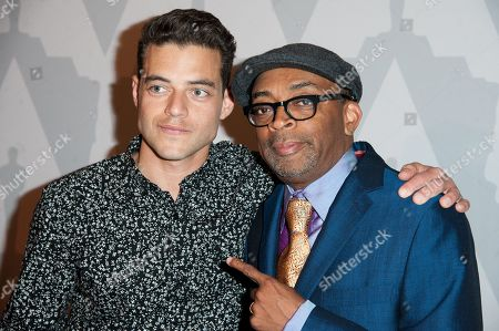 "Stock Picture of Spike Lee, left, and Rami Malek arrive at The Academy Celebrates the 25th Anniversary of ""Do The Right Thing"" held at the Bing Theater, in Los Angeles"