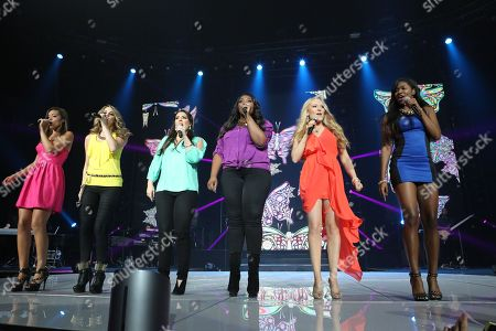 The Gwinnett Arena hosted the American Idol Live 2013 tour stop . This year's Top 11 and performing on the tour are, in order of finish: Candice Glover, Kree Harrison, Angie Miller, Amber Holcomb, Janelle Arthur, Lazaro Arbos, Burnell Taylor, Devin Velez, Paul Jolley, Curtis Finch, Jr., and Aubrey Cleland. at The Arena at Gwinnett Center on Sunday August 4, 2013, in Atlanta