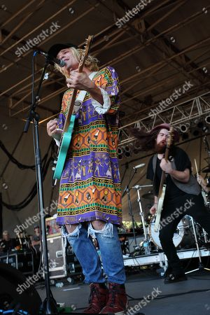 Christian Zucconi and Sean Gadd of Grouplove performs during The Big Ticket at Jacksonville Metro Park, in Jacksonville, Fla