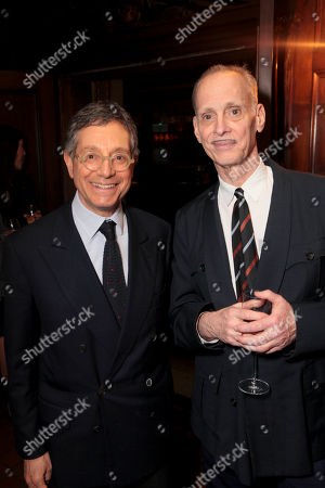 From left, Jeffrey Deitch and John Waters pose during The Un-Private Collection: Jeff Koons and John Waters, an art talk co-presented by The Broad museum and the Library Foundation of Los Angeles's ALOUD series and held at the Orpheum Theatre on in Los Angeles, Calif
