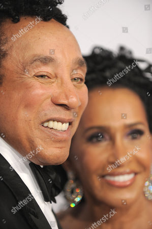 Smokey Robinson and Frances Gladney Robinson arrive at The Carousel of Hope at The Beverly Hilton Hotel, in Beverly Hills