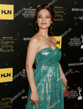 Rebecca Herbst arrives at the 39th Annual Daytime Emmy Awards on HLN at the Beverly Hilton Hotel on in Beverly Hills, Calif