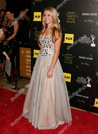 Lindsay Bushman arrives at the 39th Annual Daytime Emmy Awards on HLN at the Beverly Hilton Hotel on in Beverly Hills, Calif