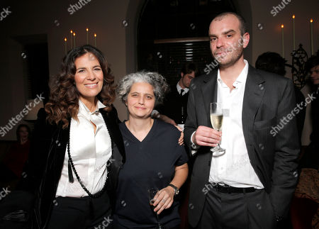 Roberta Armani, Viola Prestieri and Giovanni Bulgari attend The Great Beauty Oscar Dinner Presented by Giovanni Bulgari's Therra and Sotirio Wines at the Chateau Marmont on in Los Angeles