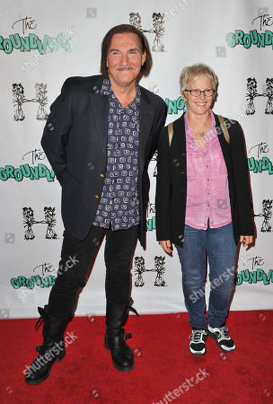 John Paragon, at left, and Tracy Newman arrives at The Groundlings 40th Anniversary Gala at Hyde, in Los Angeles