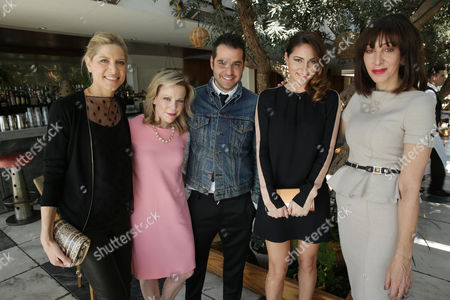 Petra Flannery, Carol McColgin, Rob Zangardi, Mariel Haenn and Merle Ginsberg at The Hollywood Reporter and Jimmy Choo Celebration of the Most Powerful Stylists in Hollywood, on Wednesday, March, 13, 2013 in Los Angeles