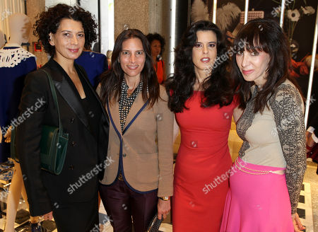 From left, Chairman of Universal Pictures Donna Langley, UTA's Blair Kohan, Keri Selig, Founder and President of Intuition Productions, and THR Style Editor Merle Ginsberg attend The Hollywood Reporter and Valentino Power of Style Lunch, at the Valentino Boutique in Beverly Hills, Calif