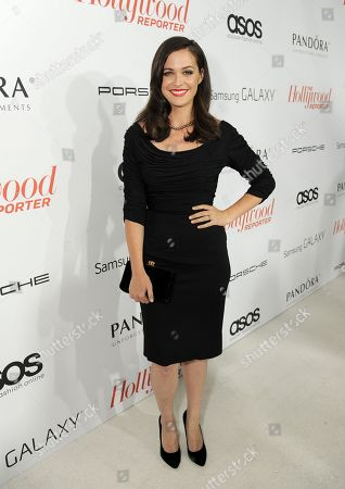 Christine Woods arrives at The Hollywood Reporter celebration of the Emmy nominees and new fall TV season presented by Samsung Galaxy, Asos, Porsche, Pandora and Ketel One,, at Soho House in West Hollywood, Calif