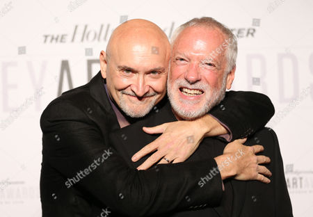 Stock Image of Drew Struzan, right, and Frank Darabont attend The Hollywood Reporter Key Art Awards Powered by Clio at the Dolby Theatre, in Los Angeles