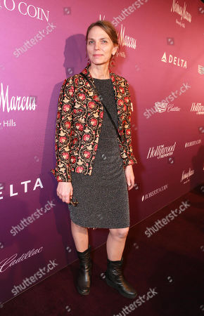 Torill Kove arrives at The Hollywood Reporter Nominees Night presented by Cadillac, with Delta, Roberto Coin, and Neiman Marcus Beverly Hills at Spago on Mon., in Beverly Hills, Calif
