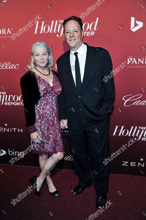 Karen Landry, left, and Chris Mulkey arrive at The Hollywood Reporter Toasts the 2014 Oscar Nominees on Monday Feb, 10, 2014 in Beverly Hills, Calif